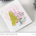 Pink and Green Christmas Card by Julia Stainton