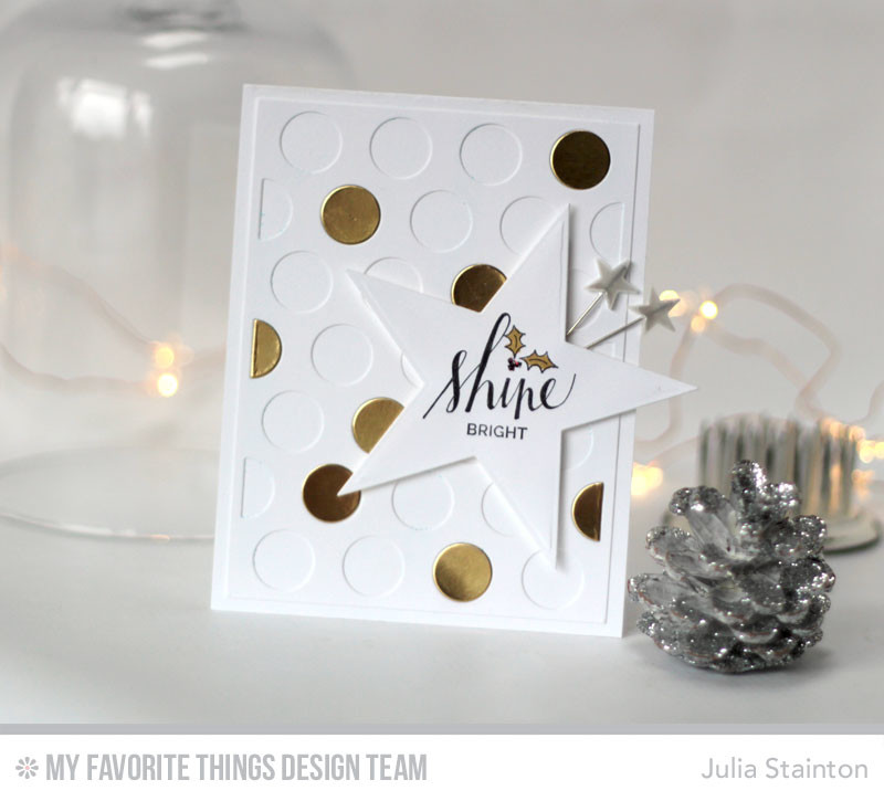 Shine Bright Christmas Card featuring Die-namics by Julia Stainton