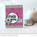 Miss you card featuring MFT Stamps Blueprints 12