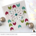 Modern Snowflake Christmas Card Color Combo by Julia Stainton