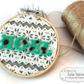 Felt Embroidery Hoop Noel Holiday project by Julia Stainton