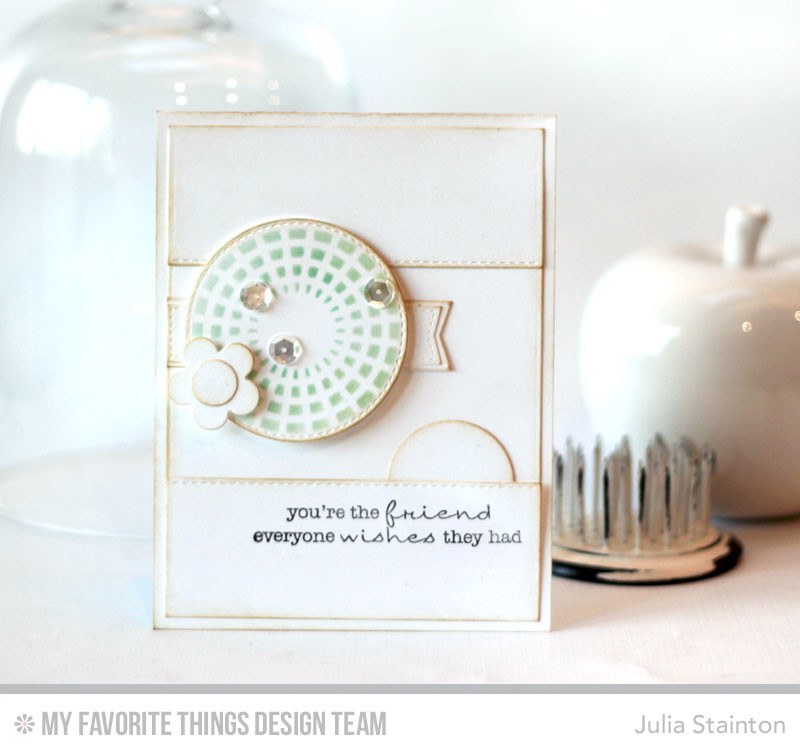 Simply White card featuring MFT Stamps Blueprints 12