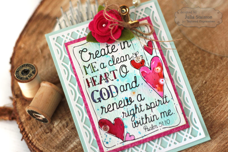 Inspirational Scripture Watercolor Card by Julia Stainton