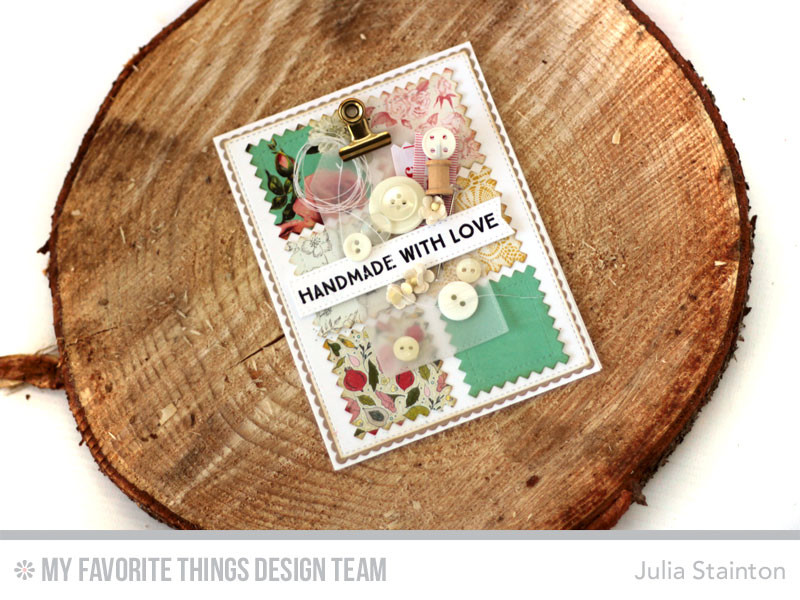 Handmade with Love Quilt Card by Julia Stainton