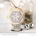 Circles and Snowflakes Tag by Julia Stainton