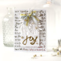 Gold Foil Joy Christmas Card using the Minc by Julia Stainton