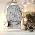 Snowflake Paris Christmas Tag by Julia Stainton