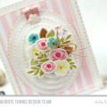 Oval Stamped Flower Bouquet Card by Julia Stainton