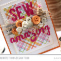 Sew Amazing Stitched Die Cuts Card by Julia Stainton