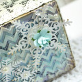Snowflake Texture Paste Canvas by Julia Stainton featuring Spellbinders