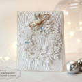 Winter White Snowflake Wreath Card by Julia Stainton