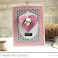 Stitched Hearts Card by Julia STainton featuring MFT Stamps