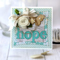 Vintage Hope Die Cut Card by Julia Stainton