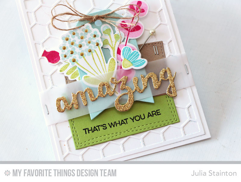 Amazing That's What You Are Card by Julia Stainton featuring MFT Stamps