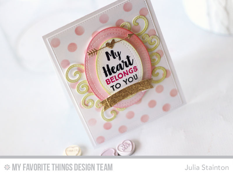 My Heart Belongs to You Valentine Card by Julia Stainton