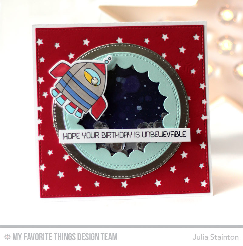 Out of this World Birthday Shaker Card by Julia Stainton