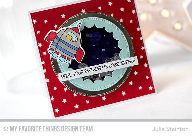 Out of this World Birthday Card by Julia Stainton