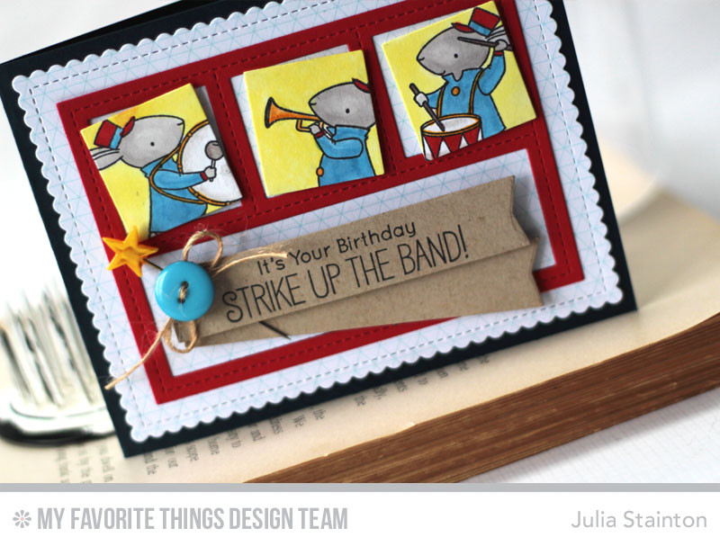 Strike Up the Band Card featuring Copic Markers, Blueprints Die-namics and Sweet Bunnies