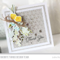 Floral Sprig Spring Card with yellow and grey color combo by Julia Stainton
