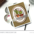 Fun Prickly Watercolor Cactus using the Sweet Succulents Stamp and Die-namics set from MFT Stamps