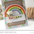 Rainbow of Wishes Card by Julia Stainton featuring MFT Stamps