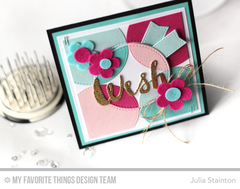 Circle Wishes Card featuring MFT Stamps Blueprints Dienamics