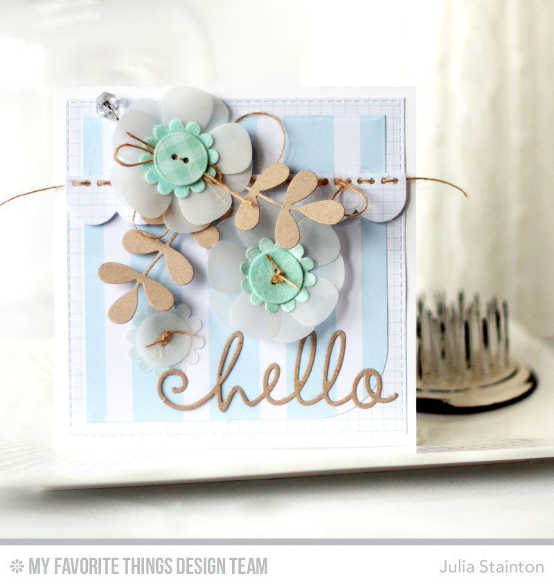 Hello blueprints belle papier button blueprints hello card by julia stainton featuring mft stamps malvernweather