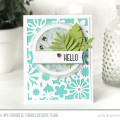 Floral Die Cuts Sketch Challenge Hello Card by Julia Stainton #WSC272