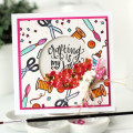 Crafting is my Jam Watercolor + Shaker Card Design by Julia Stainton featuring Neat & Tangled stamps
