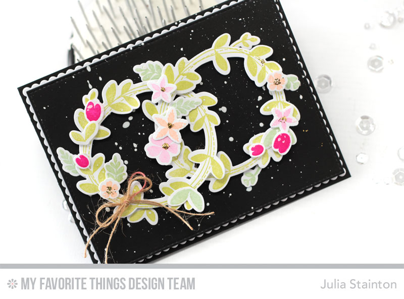DIY Eternity Wreath Using Stamps and Die-Cuts by Julia Stainton featuring MFT Stamps
