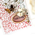 Hello Lovely Die Cut Panel Card by Julia Stainton - inspired by the Fusion Card Challenge