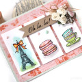 Oh la la Paris Eiffel Tower Watercolor Card by Julia Stainton featuring Neat & Tangled Stamps