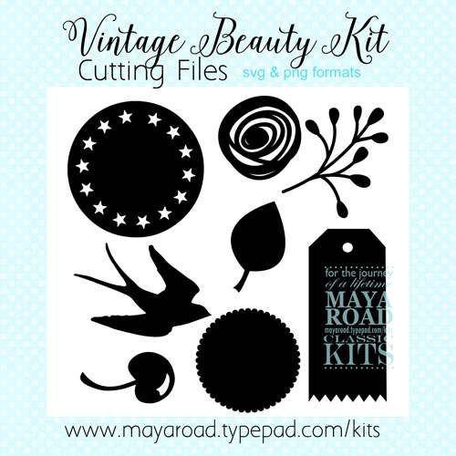 Vintage Beauty Free Digital Files for SVG and PNG Formats