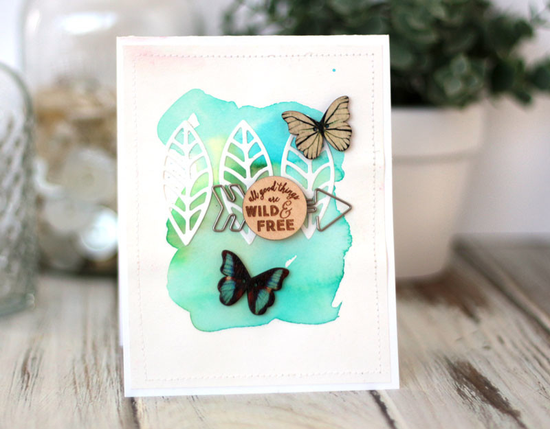 Watercolor Freestyle Card by Julia Stainton featuring the Color Your World Kit by Maya Road Kits