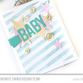 Watercolor Wash Baby Card by Julia Stainton featuring MFT Stamps