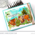 May the Forest be With You Sweet Watercolor card by Julia Stainton featuring MFT Stamps Forest Friends