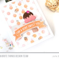 Sweet You Ice Cream Card by Julia Stainton feauting MFT Stamps, stencils, die-mamics and stamping