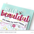 Hello Beautiful Card by Julia Stainton featuring MFT Stamps May Releases