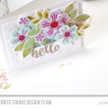Hello Flashy Florals Card Kit Card by Julia Stainton featuring MFT Stamps May Card Kit