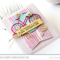 Bicycle Friendship Card by Julia Stainton featuring MFT Stamps and sketch challenge MFTWSC287