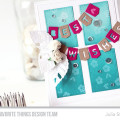 Best Wishes Banner Card by Julia Stainton featuring MFT Stamps July Release