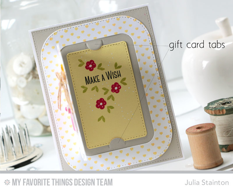 Gift Card Handmade Card - Make a Wish by Julia Stainton featuring MFT Stamps