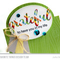 Grateful Card by Julia Stainton featuring Oval Flop Die-namics from MFT Stamps
