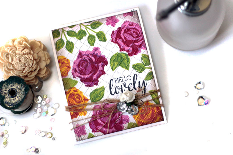 Simply Stamped Roses Hello Card by Julia Stainton featuring Taylored Expressions stamps and new inks