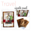 Travel Vignette Panel on Wood by Julia Stainton