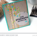 Strength Woodgrain Masculine Card by Julia Stainton featuring MFT Stamps