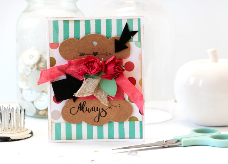 Always Arrow Card by Julia Stainton featuring Maya Road Follow Your Bliss Card Kit