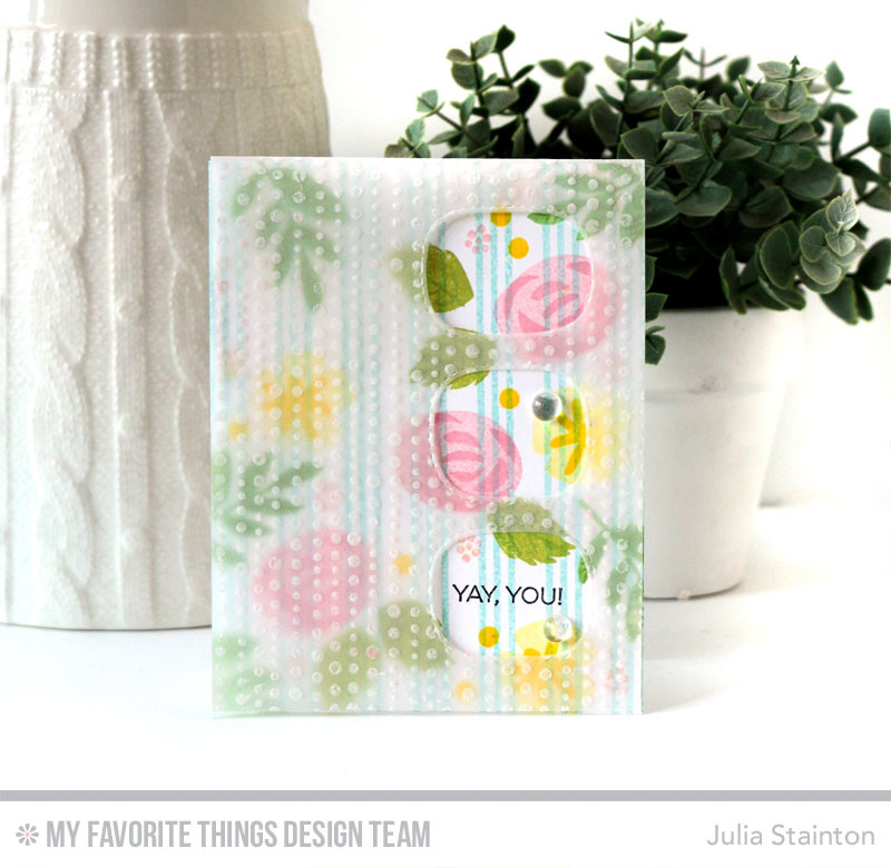 Ya You! Congratulations Card by Julia Stainton featuring MFT Stamps and spotlighting