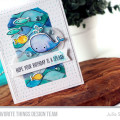 Birthday Splash Card by Julia Stainton featuring MFT Stamps, watercoloring and vellum