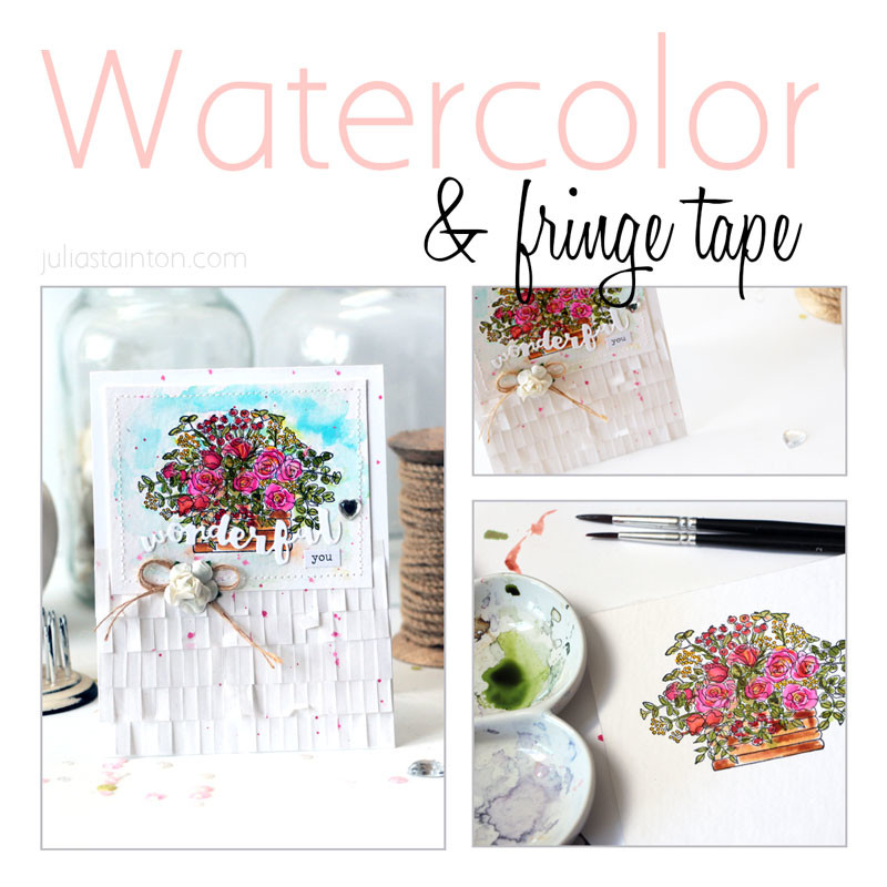 Watercolor Meets Fringe Tape by Julia Stainton featuring Pink Pink, Peerless & We R Memory Keepers